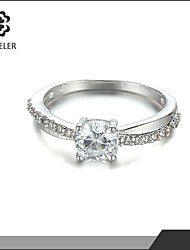 Sjeweler 14K White Gold Pave Diamond Wedding Anniversary Ring