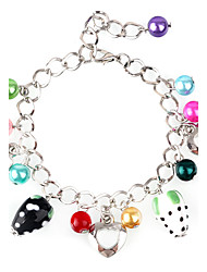 Butterfly And Dolphin Fish Heart Crystal Glass Bracelet(4-colors)(1Pcs)