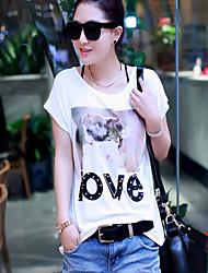 Women's Korea Style Fashion Short Sleeve Summer Casual T-shirt
