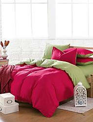 fveja'siv el ladrillo rojo 100% algodón de cuatro piezas duplicar la actividad normal