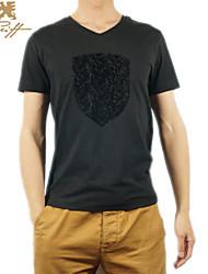 UK Men's Casual Solid Short Sleeve Regular T-Shirts