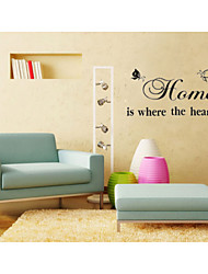 Where The Heart Is Quote Wall Decals ZY8007 Adesivo De Parede Removable Vinyl Wall Stickers Home Decorations