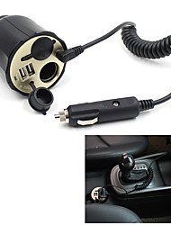 12V-24V Dual USB Car Cigarette Lighter Socket Outlet Charger Power Adapter Nice