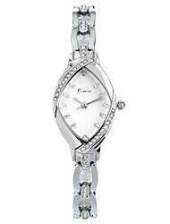 Mme. alliage diamant montre bracelet à quartz