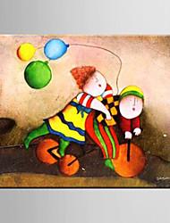 Ölgemälde Dekoration Zusammenfassung Cartoon Dekoration Kinder Schlafzimmer Hand bemalte Leinwand mit gestreckten gerahmte L / XL