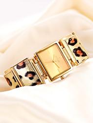 más nuevas mujeres elegantes de la marca famosa de cuarzo reloj de acero leopardo de la manera reloj casual para mujer reloj de pulsera