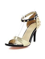 Women's Shoes Stiletto Heel Slingback Sandals Dress Black/Silver/Gold