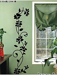 Classical Black Flowers Vine wall Decal Zooyoo8139 Decorative Adesivo De Parede Removable Vinyl Wall Sticker