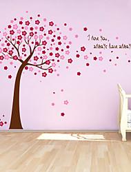 stickers muraux autocollants de mur, mignon PVC coloré amovibles les rouges chanceux mur d'arbre autocollants.