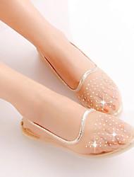 Women's Shoes Net Diamond Flat Heel Comfort Transparent Flats Casual Blue/Yellow/Pink/Beige