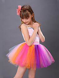 Puff Skirt  Tutu Skirt  Children's Yarn Skirt  Dance Tutu Dress  Princess Tutu Skirt  Rainbow Colorful Tutu Skirt