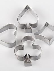 покер форме печенья плесень карты металла формы торта кухня отделочных работ 3.5 × 2.5 × 2 см