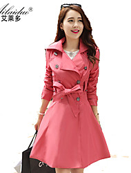 YUNTUO®Women's big yards in the collar of cultivate one's morality long trench coat OUTW2