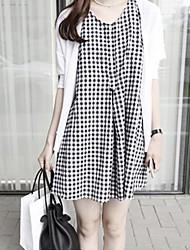 Vestito Da donna Casual Mini Cotone