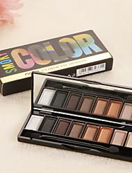 8 Paleta de Sombras Mate / Brilho Paleta da sombra Pó Normal Maquiagem para o Dia A Dia / Maquiagem Esfumada