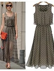 Nikki Women's Beach/Casual/Work Sleeveless Dresses (Chiffon)