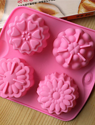 Bakeware Silicone Flowers Shaped Baking Molds for Cake Chocolate Jelly