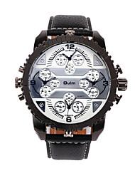 Men's Watch with 4 Time Zones Special Unique Design Dial