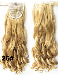 "22 ""(55 cm) de comprimento ondulado fita rabo de cavalo sintético grampo na extensão do cabelo rabos de cavalo"