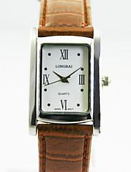 caja de la aleación analógica de la mujer cuadrados marcar chinos mujeres del reloj de cuarzo reloj de regalo del reloj del negocio de