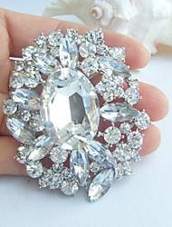Wedding Accessories Silver-tone Clear Rhinestone Crystal Bridal Brooch Wedding Deco Bridal Bouquet Wedding Brooch