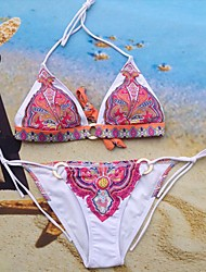 2014 bikini swimwear women low price bathing suit gift tight sexy gift fashion printe flower swimsuit