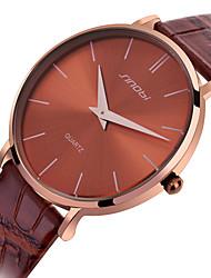 SINOBI  Watch Men's Leather Quartz Watch