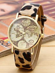 movimiento de las señoras de la moda retro correa redonda reloj chino (colores surtidos)