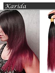 3 fasci 12-30 pollici può tingersi a buon mercato 100% capelli brasiliani vergini dritti ombre