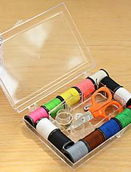 пластиковый прозрачный лучше швейный набор для чрезвычайных ситуаций домой путешествия (случайный цвет)