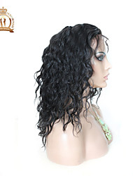 "10""-26"" Glueless Lace Front Wig Natural Wave Peruvian Virgin Hair Color Natural Black Baby Hair for Black Women"