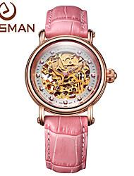 donne vigilanza di marca easman diamante rubino cuoio della vigilanza multifunzionale orologio orologio meccanico