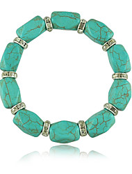 Polygon carved turquoise bracelets
