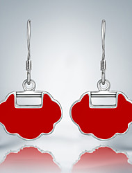 Cute/Party/Work/Casual Cloud Design Silver Plated Drop Earrings