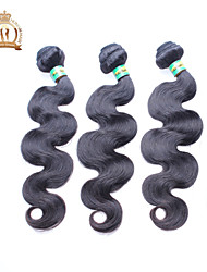 "3 Pcs Lot 12""-26"" Unprocessed Brazilian Virgin Hair Body Wave Natural Black Remy Human Hair Weave Bundles Soft & Thick"