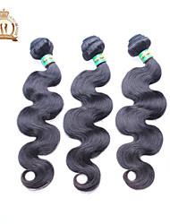 """3 pcs beaucoup 12 """"-26"""" faisceaux armure non transformés brésilien vague de corps de cheveux remy vierge noire naturelle de cheveux"""