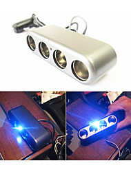 SHUNWEI® Car Cigarette Lighter Electronics Universal 12-24V LED Light 1-to-4 Power Socket