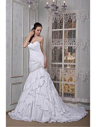 Fit & Flare Wedding Dress Court Train Sweetheart Taffeta