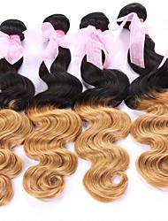"""all'ingrosso capelli, 1b / 27 # capelli brasiliani estensioni dei capelli ombre, ombre brasiliano dei capelli onda del corpo 8 """"-24"""" del"""