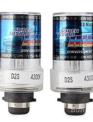 D2S 35W 4300K HID Xenon Headlight Light Lamp Bulb (2PCS)