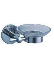 Solid Chrome Finishing Round Soap Dish Holder Box Bathroom Accessories Products