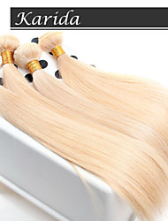 Virgin Hair Straight,4 Pcs/Lot Wholesales Straight European Hair Weaves Color 613