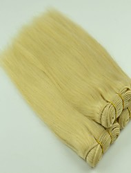 "3Pcs Lot  14""-26""Unprocessed Peruvian Silky Straight Hair Blonded Color #613 Hair Bundles"