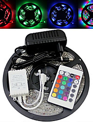 5M 150X5050 Smd Rgb Led Strip Light and 24Key Remote Controller and Ac110-240V to Dc12V3A Transformer
