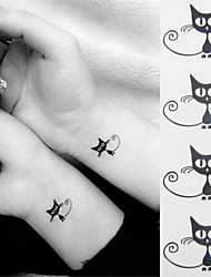 Kawaii Lovely Dumoe Cat Tattoo Stickers Temporary Tattoos(1 Pc)