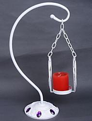 мода выдалбливают держатели металл / полимер свечи / подсвечник свадьбы (случайный цвет)