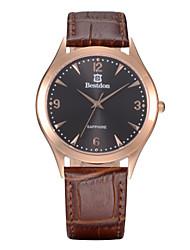 casal fashion bestdon impermeável relógio de pulso de quartzo (duas opções de cores)