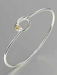 partido de venta / trabajo en caliente / plata informal plateado pulsera diseño simple