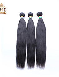 3Pcs/Lot 12-26 inch Unprocessed Indian Remy Virgin Hair Natural Black Yaki Straight Human Hair Wefts