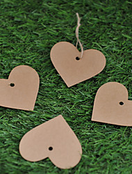 Kraft Paper  Labels (Set of 50)----Heart without Ribbon
